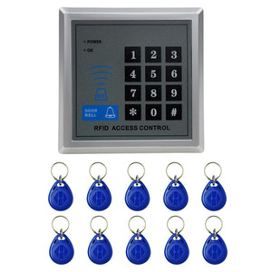 X1 RFID Single Door Access Control System with Keypad & 10 ID Card Token Keyfobs, Support Password & EM Card Reader
