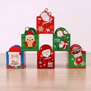Christmas Candy Box Apple-Box-Kind-Geschenk-Karikatur-Familien-Party-Geburtstags-Party Supplies Geschenk-Box Geschenk-Beutel Weihnachts XD22224