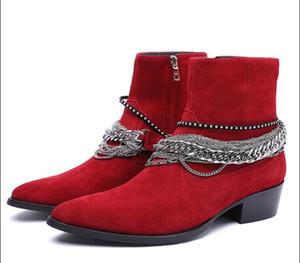 Yüksek üst yeni liste hakiki deri persional erkek ayakkabılarına fabrika çıkış da üretim kalitesini s l p yarım bot zincirle