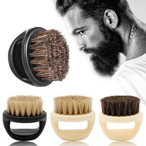 Wildschwein Fur Herren Rasierpinsel Barber Salon Men Facial Bart Reinigungsgerät Shave Werkzeug Razor Bürste mit Griff für Männer