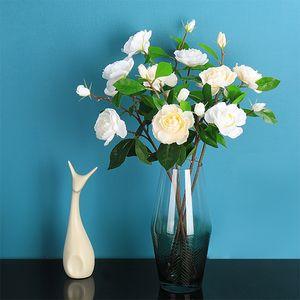 10 PCS Gardenia الزهور الاصطناعية غير المنسوجة الأقمشة ... ... الزهور البيضاء والزهور الزينة عيد الحب هدية الحب