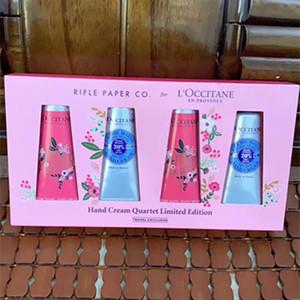 Nouvelle boîte-cadeau Kit Crème Mains EN PROVENCE 3 / 4pcs Set 30ml Mains Soins de la peau avec un sac-cadeau