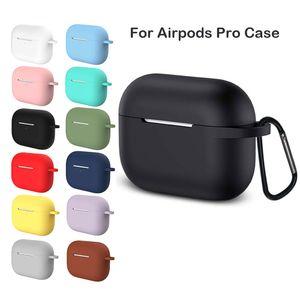 Silicone para Apple Airpods Pro fone de ouvido Para AirPods Pro Caso sem fio Bluetooth Headset Tampa à prova de choque Bag Para Airpods 3