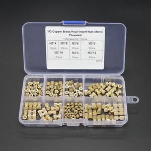 150шт м3 латунная вставка гайка инжекционный метод литья Двухпроходная медная вставка рифленая накатка гайки резьбовые вставки гайки