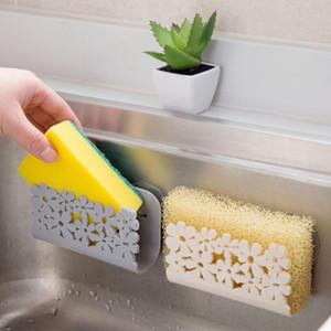 Cuisine Salle de bain Etendoir WC évier aspiration Éponges Porte-rack support ventouse de Chiffons vaisselle épurateurs savon Stockage