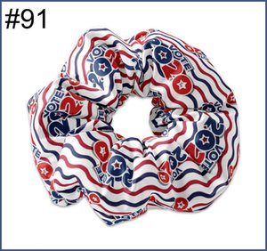 free shipping 12pcs NO58-No114 5.5'' big inspired hair scrunchies girl elastic hairbands Women Printed Scrunchie butterfly unicorn