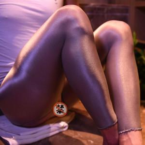 Herrenöle Blink Shine Erotic Penis Sheath Strumpf Stage Club Show Strumpfhosen Enge elastische Leggingsocken