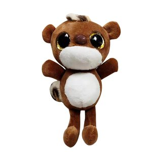 Plush Animal Pendant Keychain Lovely Big Eyes Hamster Plush Stuffed Doll Keychain Ring Key Holder Bag Decor 20cm