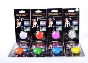 Leuchten Hundehalsband LED-Beleuchtung LED-Lampe Licht emittierende Haustier-Welpen-Haustier-Zubehör Anhänger blinken Keychain Flash-Dog Tag