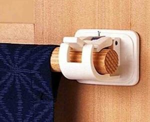 4PCS 자기 접착 후크 커튼 봉 브라켓 폴 공공 후크 홀더 커튼 홈 도구