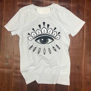 2020 hombres de las mujeres nueva marea algodón de la marca T-shirt Ojos impresión linda de calidad superior de lujo ocasionales camiseta de manga corta para hombre delgado camiseta del diseñador