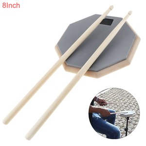 Portable 8 Inch Rubber Wooden Dumb Drum Practice Training Drum Pad Music Instruments with Drum Sticks