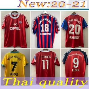 94 95 96 bayern munich retro jersey 00 01 02 final ELBER zickle EFFENBERG ELBER Pizarro SCHOLL Matthaus Klinsmann football shirts 1995 2001