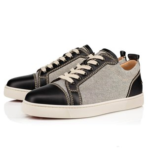 High quality designer canvas Black Leather Low top shoes man women's sneaker flat red bottom No Limit sneakers fashion italy dress shoes