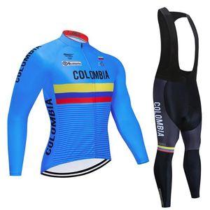 2020 팀 봄 / 가을 긴 소매 사이클링 저지 세트 빠른 건조 자전거를 타고 의류 사이클링 착용 BicycleMaterial