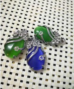 Collier Emerald goutte émeraude femelle pendant la livraison gratuite S1