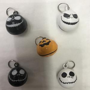 Halloween-Party-Dekoration Kürbis Bell mit Keyring Cartoon-Schädel-Bell Pet Zubehör Bell-Halloween-Kostüm-Zubehör VT0694