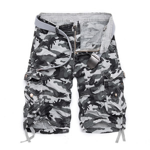 2019 Estate Hot Cotton Camouflage Cargo Shorts Uomo Casual Slim Camo Mens Shorts Militari Uomo Bermuda Shorts J190425