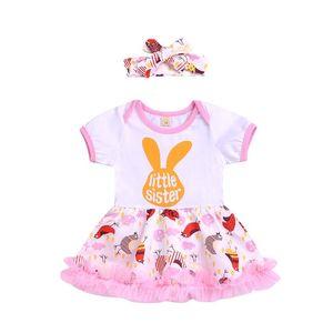 Infant Kids Babys Niñas Ropa de Verano Sin Mangas de Algodón Floral Impreso Casual Vestidos 2 unids set Kid Baby Girl Ropa Traje BY0826