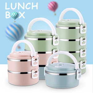 Japanischen 304 Edelstahl Hitzebewahrung Dinner Box Mode Student Multilayer Grid Erwachsene Tragbare Picknick Essen Box Bento Lunch Box