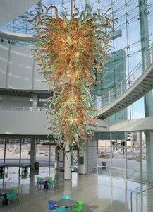 100% fait à la main légère Big Blown Chihuly style en verre de Murano Art Moderne Lustre Cuisine Décor Pendant Light