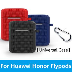 Casos de fone de ouvido de silicone para honra FlyPods / Honor FlyPods Pro / Huawei FreeBuds 2 Pro caixa de carregamento Anti-slip caso protetor