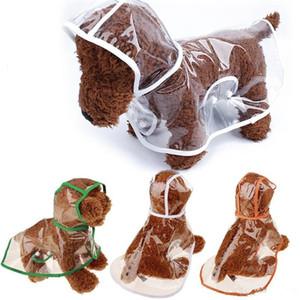 Vêtements de pluie transparents chiot vêtements de chien imperméables universels pour l'été printemps capuche manteau de pluie pour animaux de compagnie usine vente directe