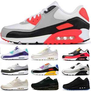 NIKE Air Max 90 Product Name 2020 nuevos para mujer zapatos corrientes de los años 90 entrenadores marca Viotech rojo triple blanco infrarrojo diseñador zapatillas de deporte