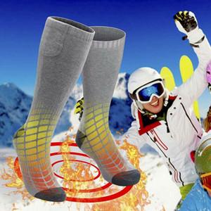 1 paire d'hiver chauffants électriques Chaussettes Pieds chauds Réchauffement de chasse chauffée Thicken Chaussettes grandes