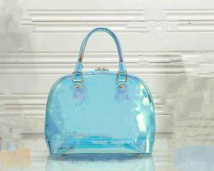 dames bateau gratuits mode nouveau Baker Fashion Bag Hot Jelly épaule Sac clair seau transparent PVC Sac à main pour les femmes Fashion Bag