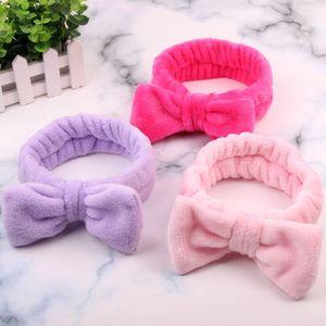 Coral Velvet Crosshead Fleece Wash Face Sports Hairbands for Women Girls Headwear Hair Bands Turban Hair Accessories