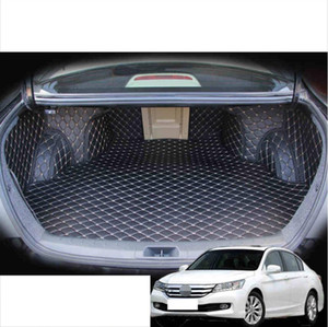 for Leather Fully Coverage Car Trunk Mat Cargo Liner for Accord 2008 2009 2010 2011 2012 5d Rug Carpet Accessories