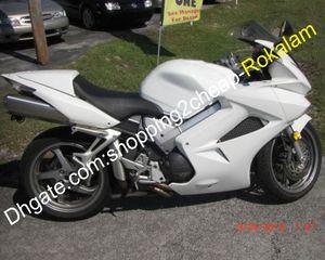 Motorrad-Shell für Honda VFR800RR VFR800 VFR 800 VFR800R 2002-2012 voll Weiß Verkleidungs-Kit (Spritzguss)
