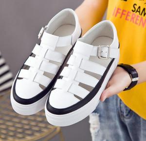 Yaz Kadın Sandalet Hakiki Deri Toka Platformu Sandalet Rahat Kadın Kalın Tek Plaj Ayakkabıları EUR Boyutu: 34-40 ADF-6847