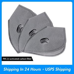50 pcs / máscara facial de ciclismo de lotes Filtro MTB Equipamento de ciclagem Rodoviária anti-poeiras PM2, 5 substituição por filtro de carbono activo protecção