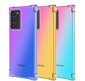 For Samsung Galaxy S20Ultra S20 Plus Gradient Dual Color TPU Case Shockproof Cover For Samsung Note Series S10 S9 S8