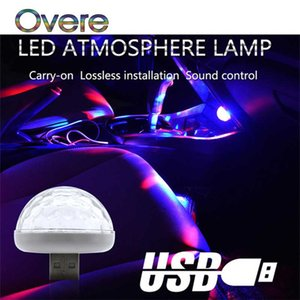 Overe 1PC LED автомобиля USB Атмосфера Свет Красочные лампы для 308 206 508 307 207 407 2008 C4 C5 Astra Insignia