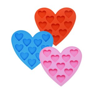 10 Holes Small Love Heart Silicone Cake Mold DIY Baking Candy Chocolate Soap Molds Cookies Decorating Tools