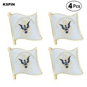 Garde côtière broches épinglette drapeau badge broche Pins Badges 4 PC