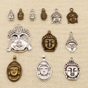 40 Pieces Metal Charms Or Bracelet Charms Religious Buddha Head Buddha Statue HJ176