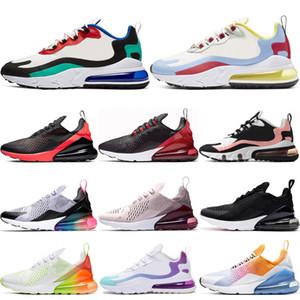 Nike airmax 270 270 react shoes Tasarımcı Bauhaus Yastık koşu ayakkabıları erkekler kadınlar BARELY Gül Yaz Gradyanları ağartılmış mercan spor ayakkabı eğitmen yürüyen Bred tepki