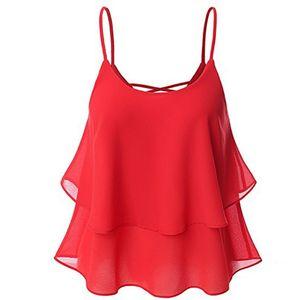 Women Camisole Chiffon Tees Tops 2020 Summer Casaul Loose Sexy Sleeveless Camis Female Beach Blusas Femininas Plus Size S-5XL Y200701