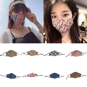 New Designer Marca ultravioleta-prova máscaras lavável respirável Designer Luxo Máscara na moda Imprimir reutilizável Windproof Anti-pó Ciclismo
