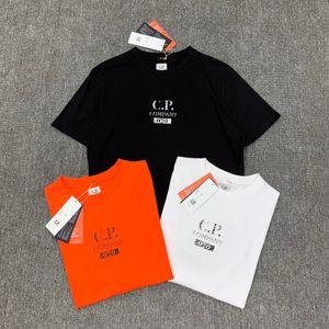 cp company erkek tasarımcı t shrits c. P şirket klasik harfler baskı etiket baskı ekip T-SHİRT CP şirket nefes giysi tasarımcısı # 8224