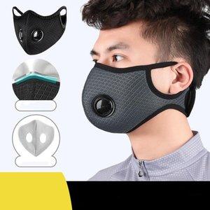 Cyclisme Face Mask Avec 3 filtres pose Entraînement sportif Masque Courir Masque Masques Activé Filtre lavable vélo carbone CCA12214 60pcs
