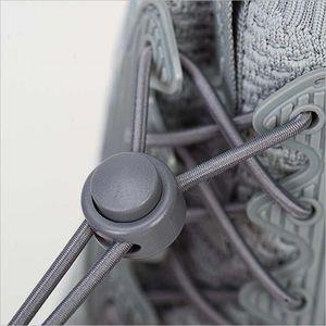 Эластичные Шнурки Круглый Замок Без Галстука Сплошной Цвет Шнурки Для Обуви Дети Взрослые Быстрые Ленивые Шнурки Резиновые Кроссовки Шнурки Для Обуви