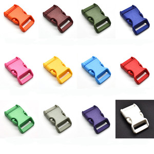 50pcs lot 1''(25mm) Plastic Colorful Contoured Side Release Buckles For Paracord Bracelets Backback Free Shipping