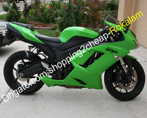 For Kawasaki Ninja ZX-6R 07 08 ZX 6R 636 ZX636 2007 2008 ZX6R Green ABS Fairing Kit (Injection molding)