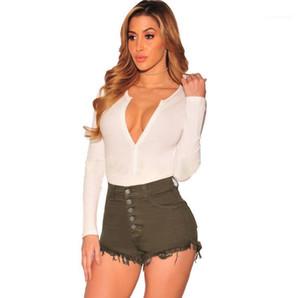 Womens Shorts Moda Designer Skinny Calças Curtas New Sexy cor sólida Womens Roupa cintura alta Magro