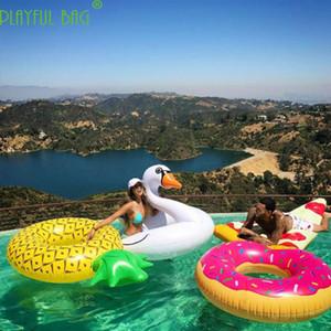 Piña inflable piscina gran fiesta Anillo de natación Cama flotante Mujer adulta Cama flotante Juguetes inflables